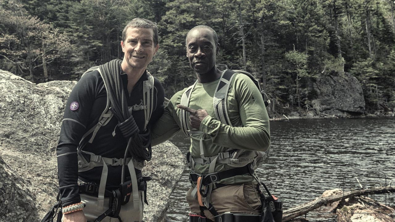 Don Cheadle Faces His Fear Of Heights With Bear Grylls
