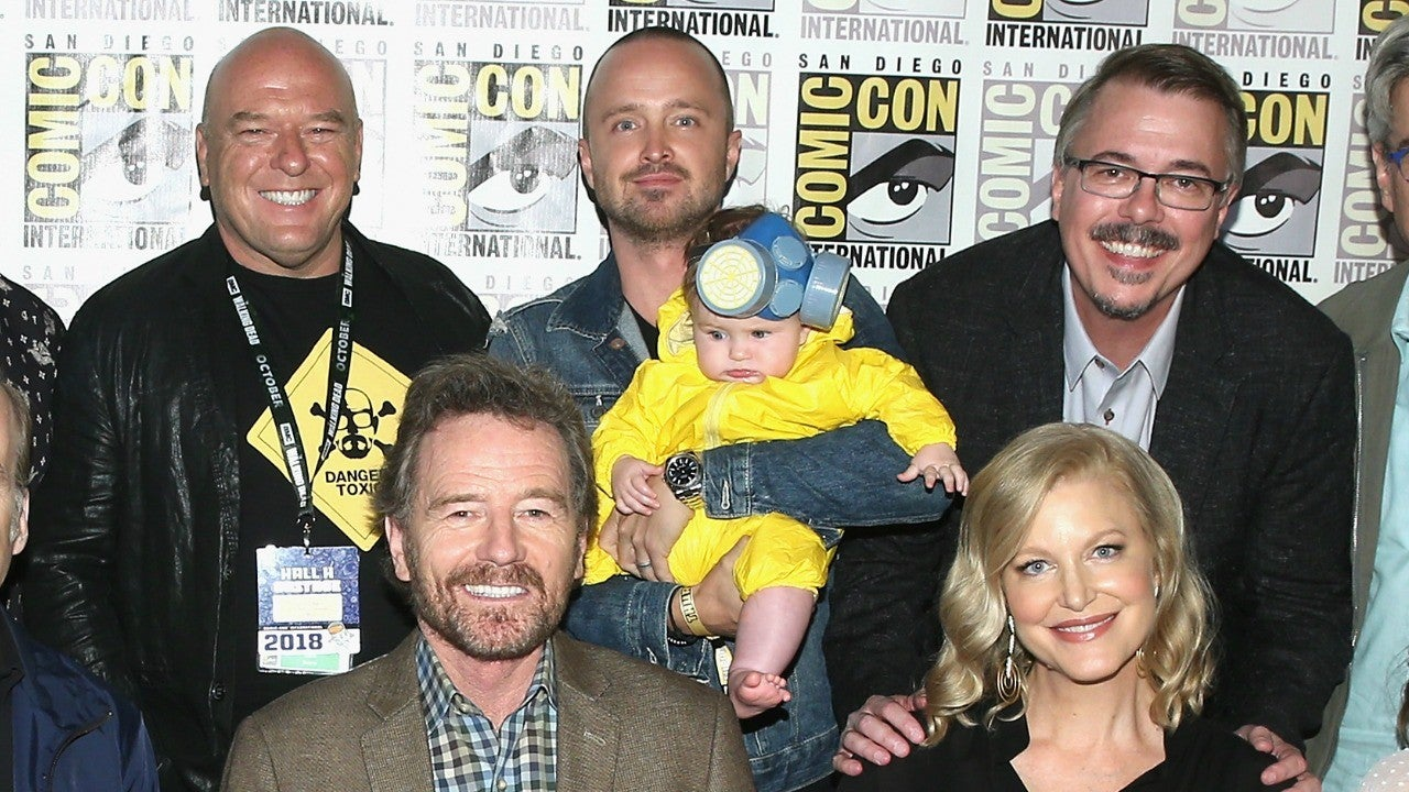 Aaron Paul Brought His Baby Dressed As Walter White To