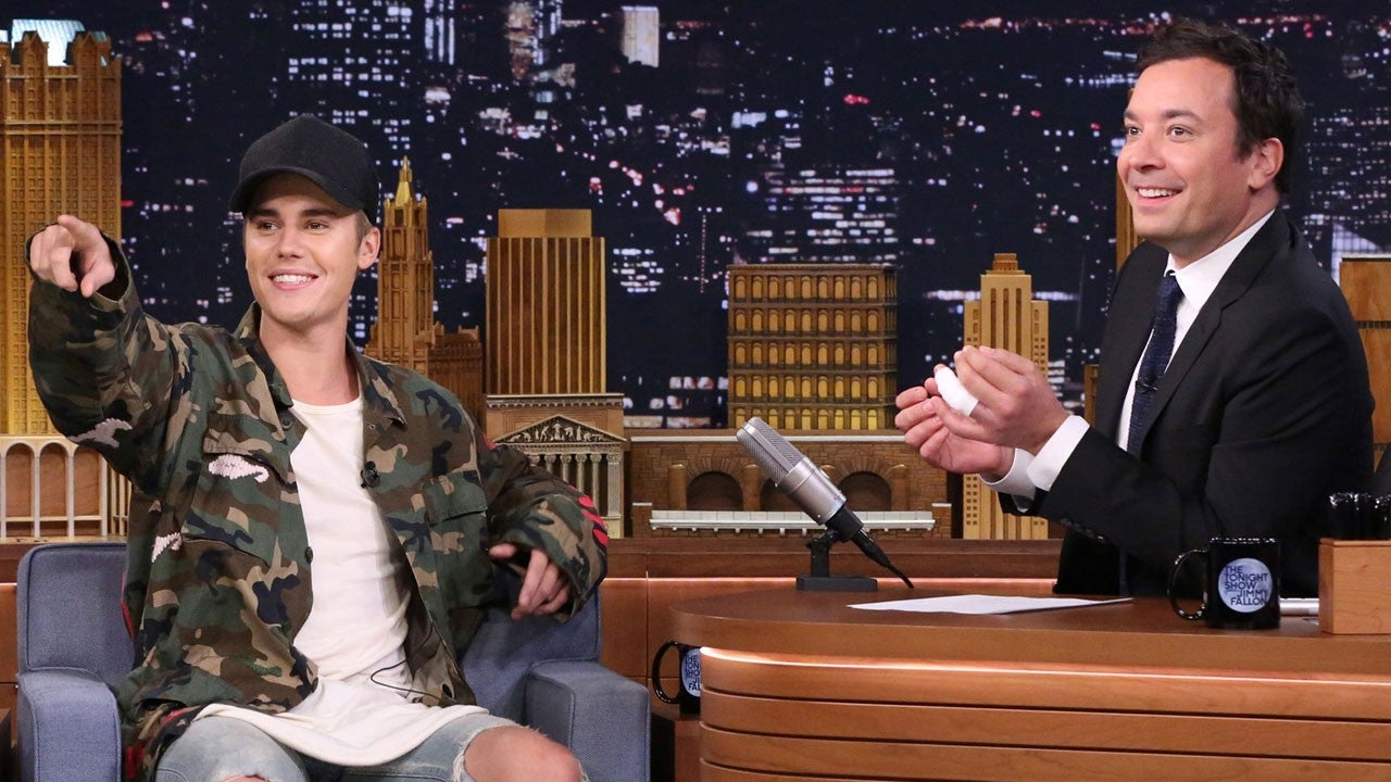 Justin Bieber Goes Incognito While Filming With Jimmy Fallon