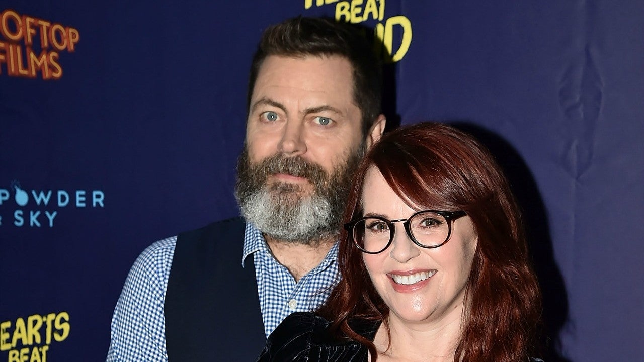 Megan Mullally and Nick Offerman Celebrate 15th Anniversary In Their Own Special Way | Entertainment Tonight