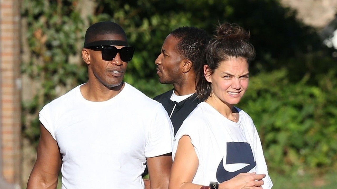 Katie Holmes and Jamie Foxx Work Up a Sweat Together at Gym in Atlanta