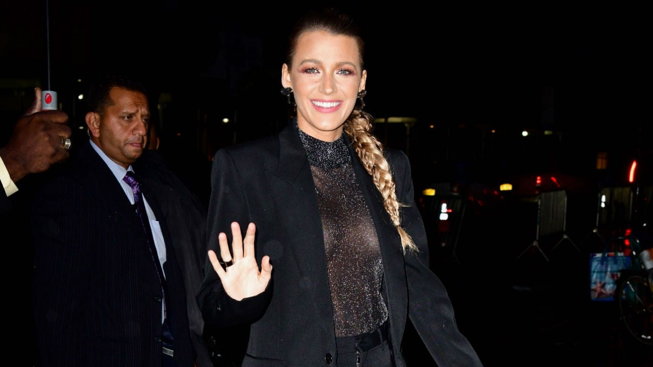 Blake Lively Thinks Reporter Is Commenting on Her Chest and the Exchange Is the Best