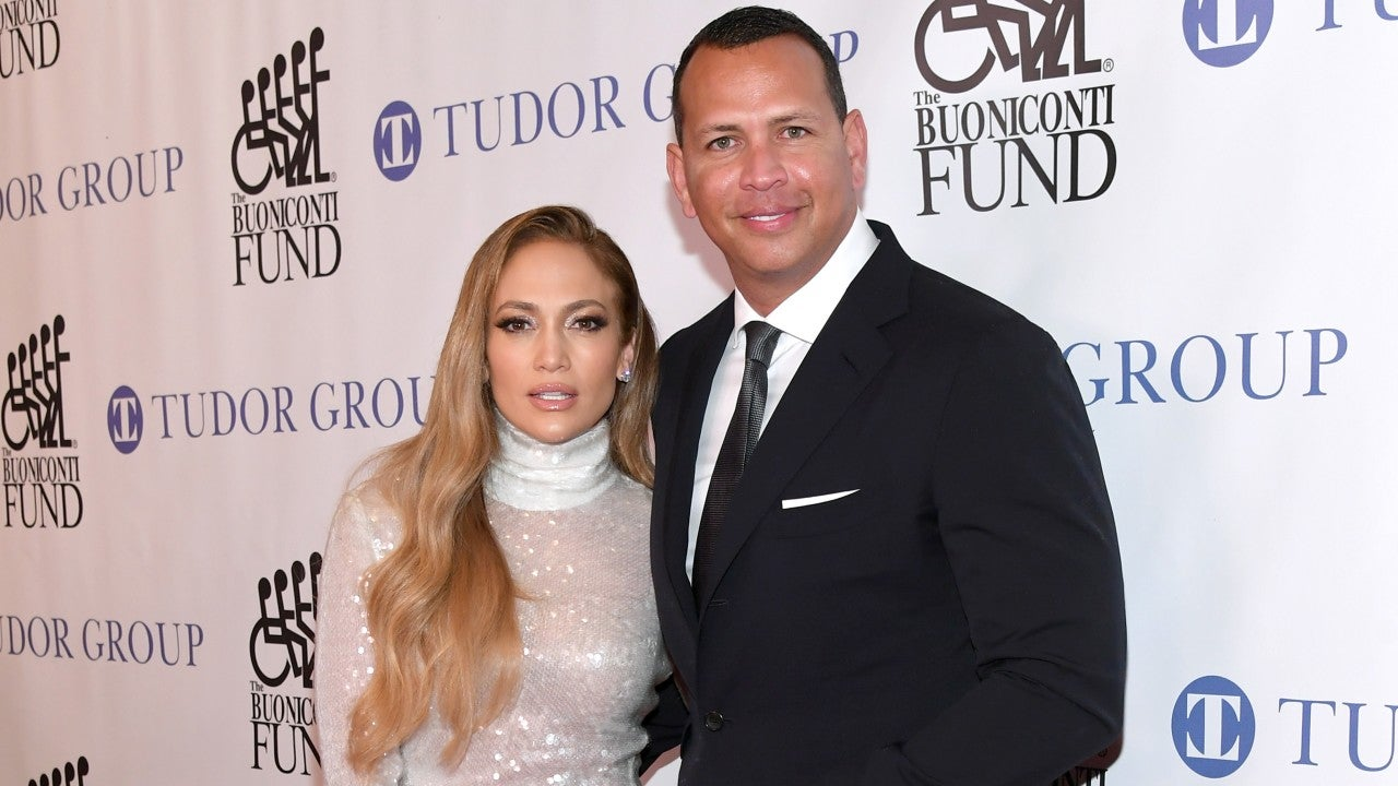 Jennifer Lopez Shimmers During Glam Date Night With Alex Rodriguez   Entertainment Tonight