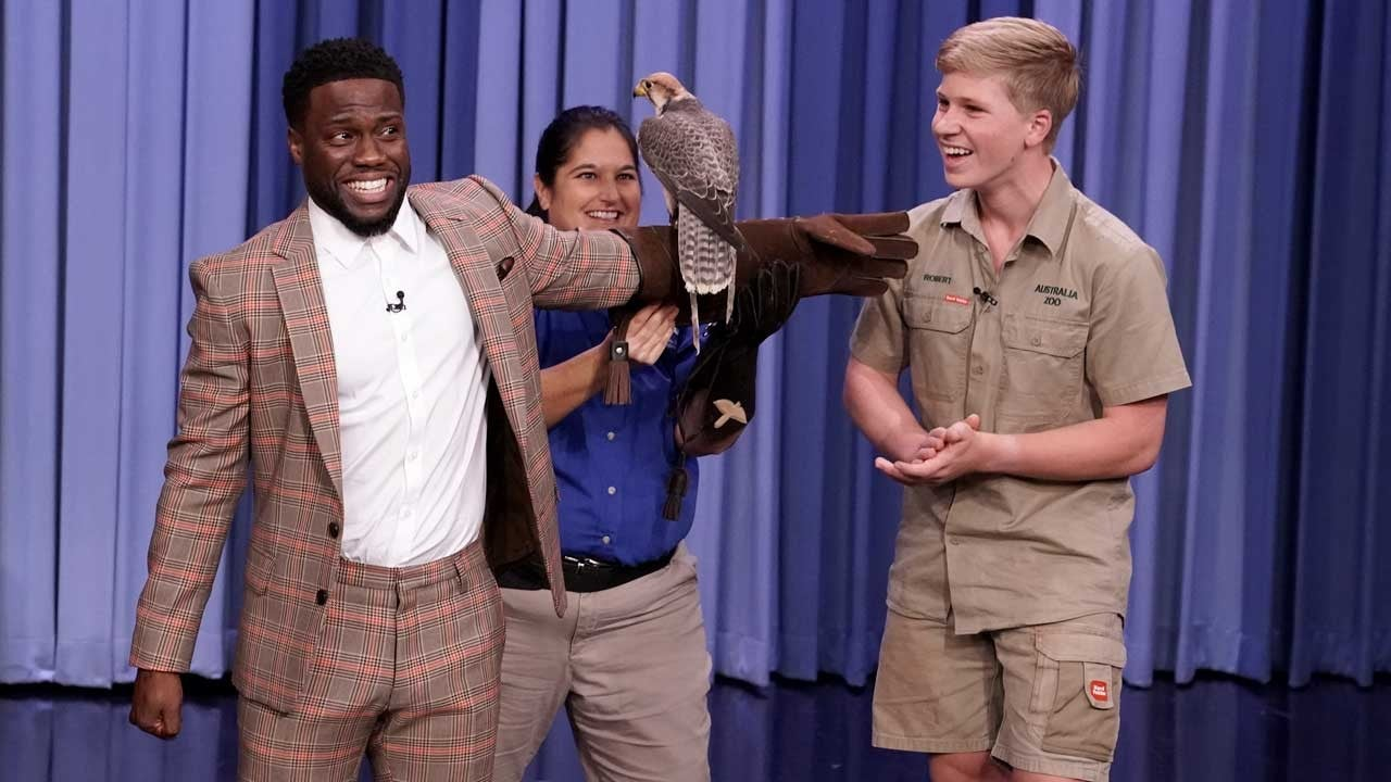 Robert Irwin Brings Exotic Animals to 'Fallon' and Kevin Hart Could Not Be More Scared -- Watch!   Entertainment Tonight