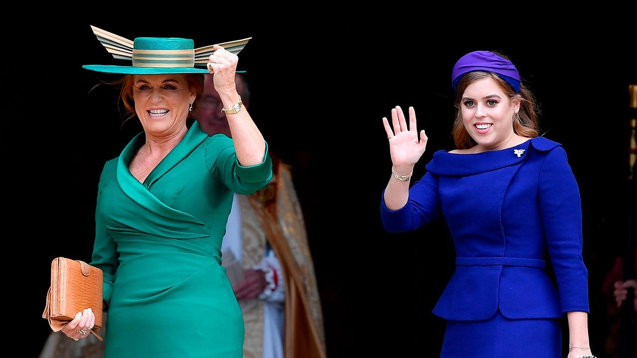 Fergie The Duchess Of York And Princess Beatrice Arrive