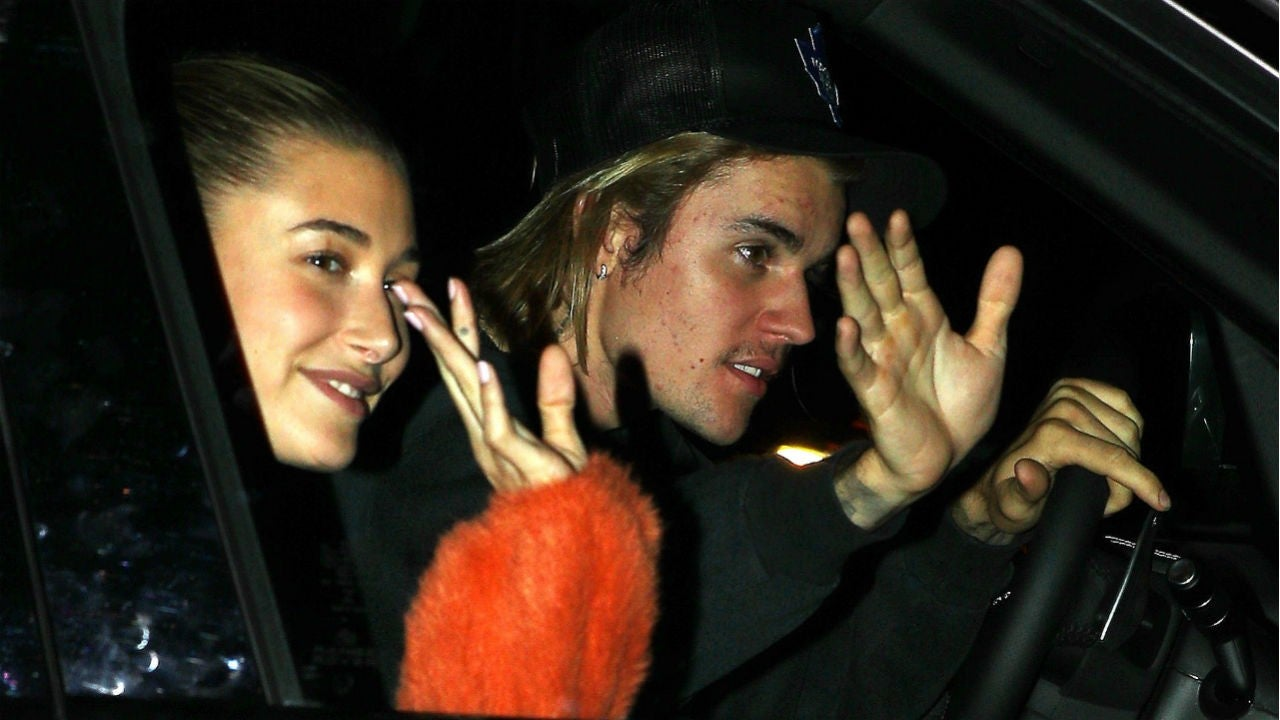 Justin Bieber and Hailey Baldwin Smile and Wave as They ...