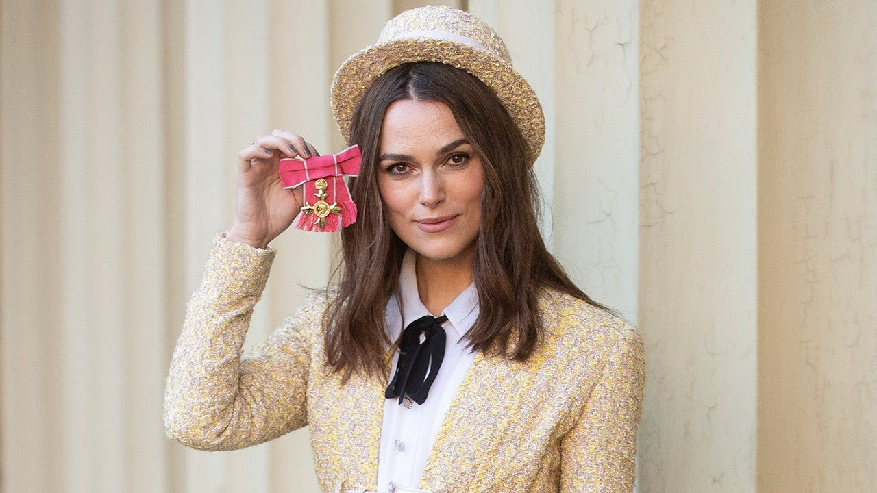 Keira Knightley Wears Top Hat as She Receives OBE From ...
