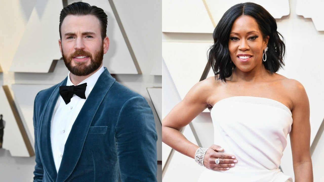 Chris Evans Helps Regina King to Oscars Stage and Twitter ...