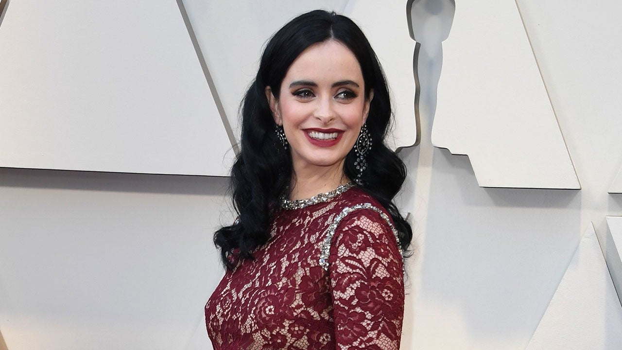 Krysten Ritter Debuts Baby Bump On Oscars 2019 Red Carpet