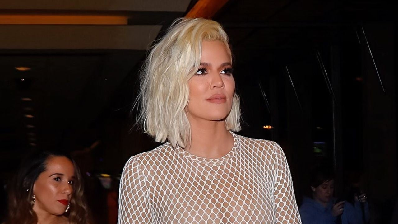 0baad7c916f Khloe Kardashian Shows Off Revenge Bod in Sexy Fishnet Bodysuit -- See the  Look! | Entertainment Tonight