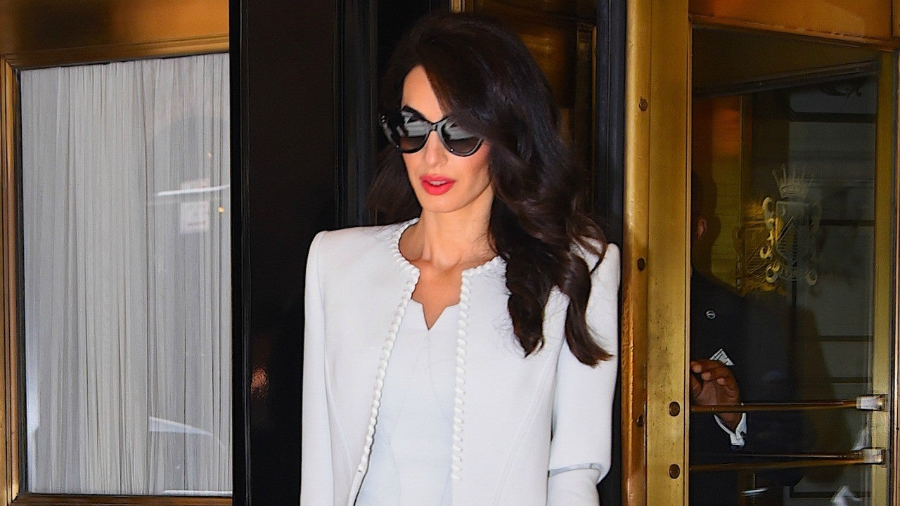 Amal Clooney Is Pure Perfection In Sophisticated White