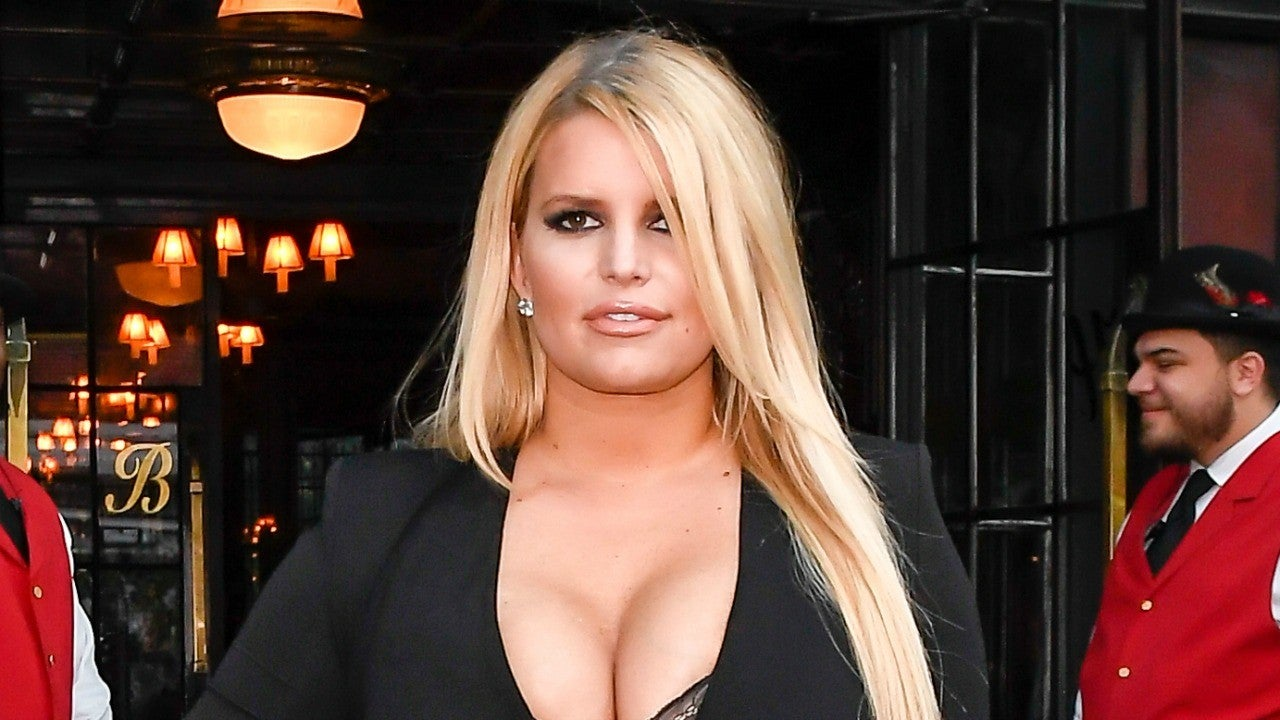 Jessica Simpson Slays In Little Black Dress After