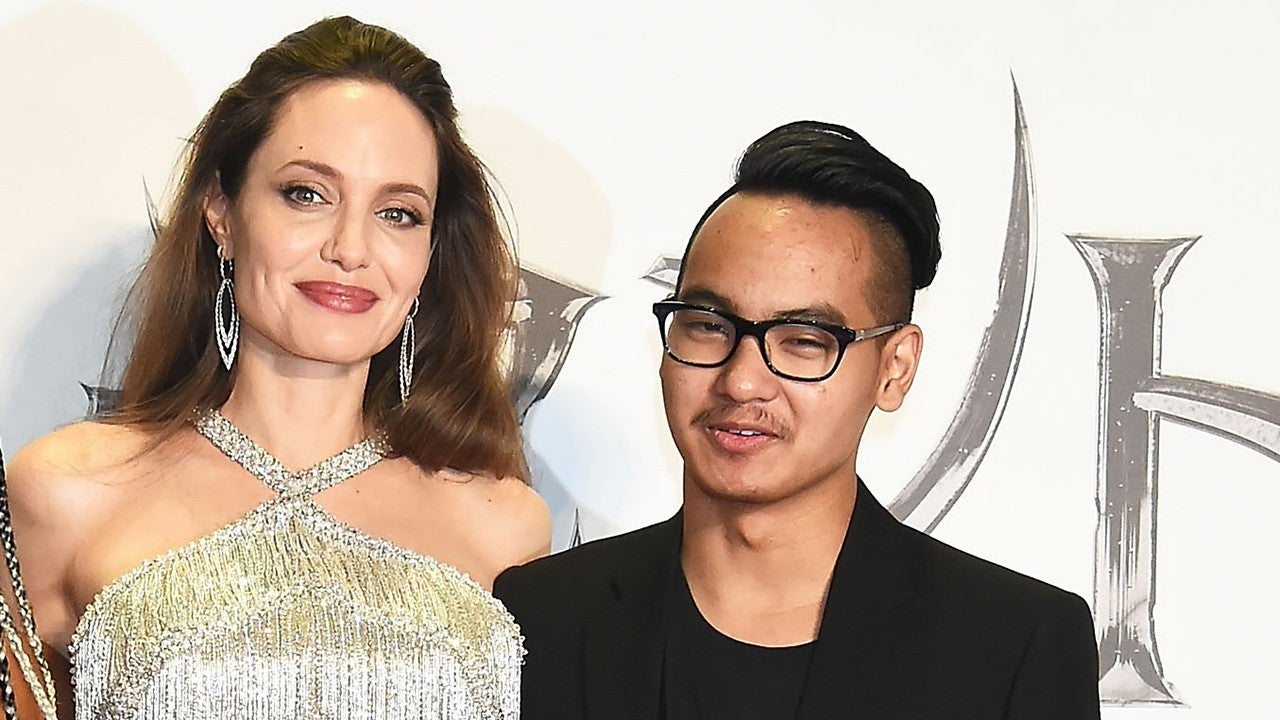 Angelina Jolie Reunites With Son Maddox At Maleficent 2