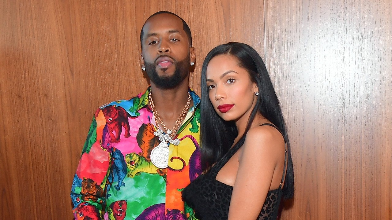 Safaree & Erica Mena Show Off Their Icy Wedding Bands (Video)