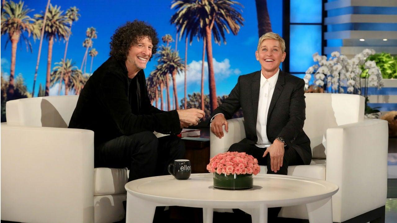 Howard Stern Gives Ellen DeGeneres a Passionate Kiss - Entertainment Tonight