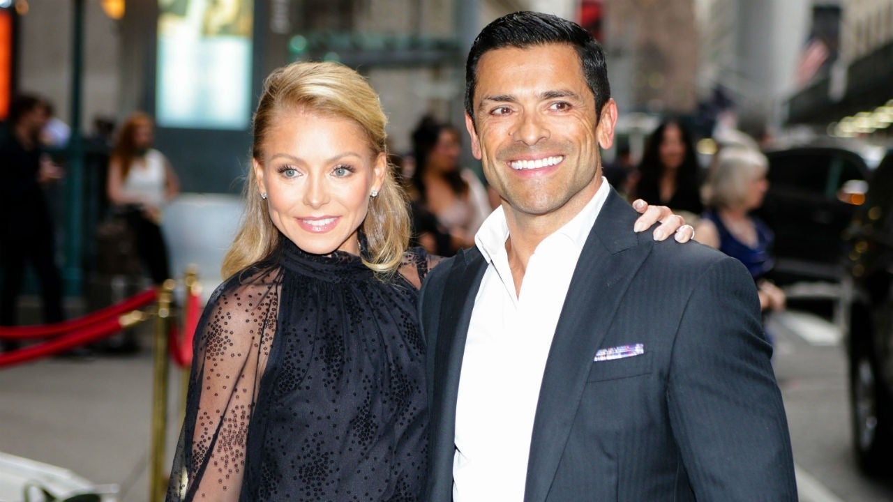 Kelly Ripa Posts 'Thirsty' Video of Mark Consuelos' Shirtless Workout