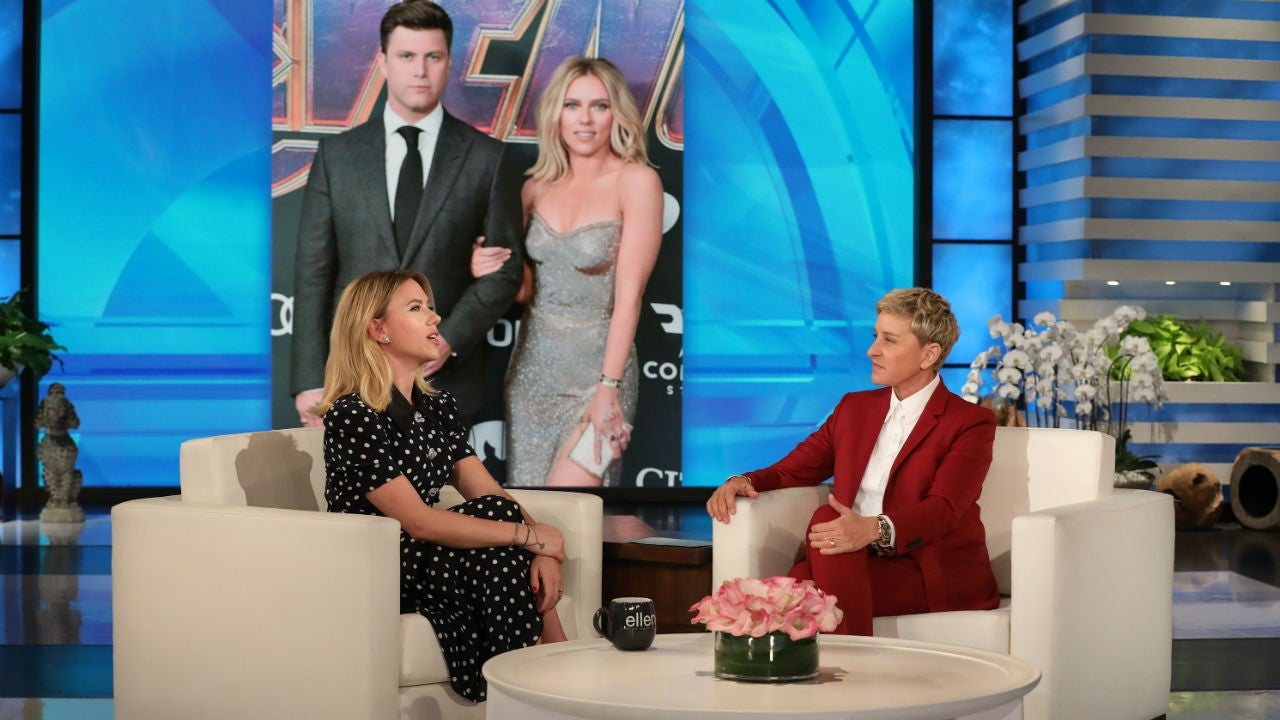 Scarlett Johansson Opens Up About Colin Jost S Romantic Proposal He Killed It Entertainment Tonight