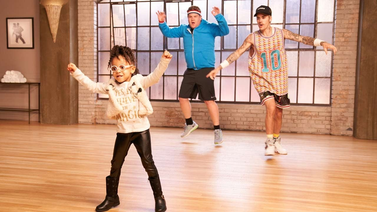 Justin Bieber and James Corden Takes Dances Lessons From Cute Kids