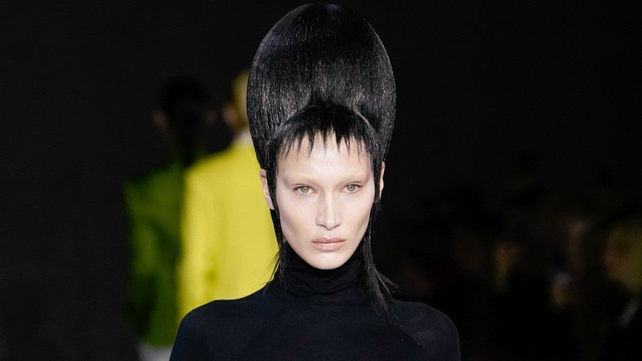 Bella Hadid Is Unrecognizable In Bleached Brows and Gothic Sky-High Wig for Latest Runway Show