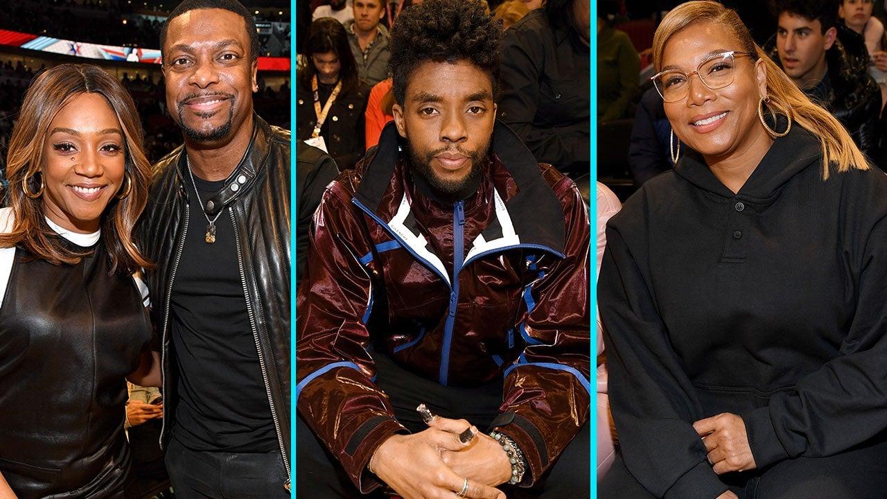 Tiffany Haddish, Chadwick Boseman and More Celebs Attend NBA All-Star Game