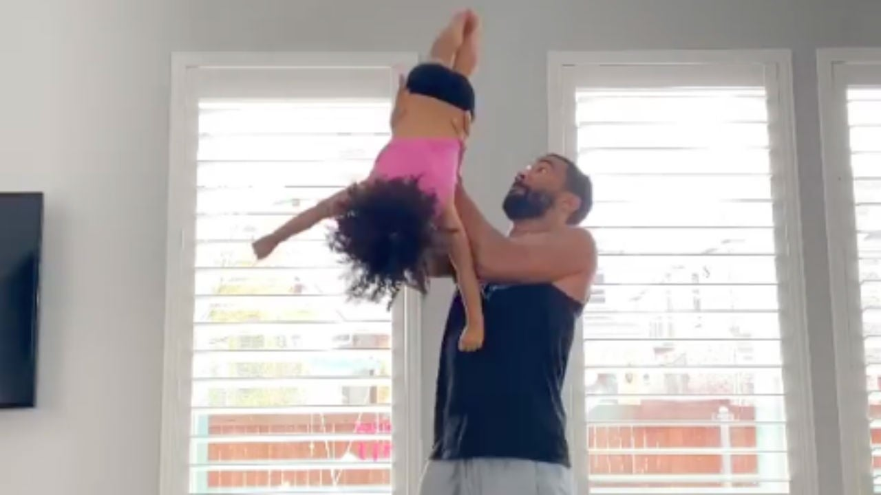 Father-Daughter Duo Show off Their Impressive Cheerleading Moves and 'Cheer' Coach Monica Aldama Is Obsessed