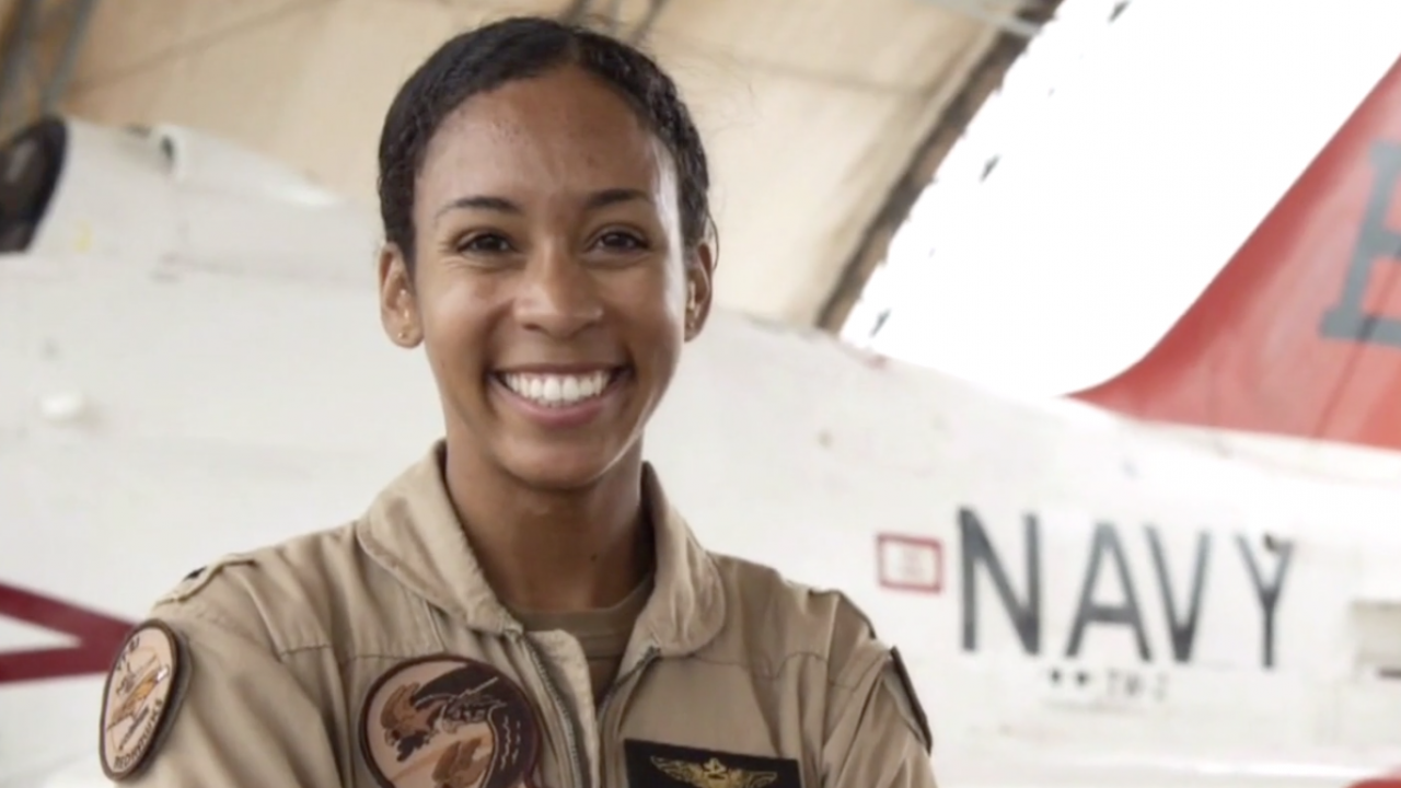 US Navy's First Black Female Fighter Pilot Will Receive Her Wings
