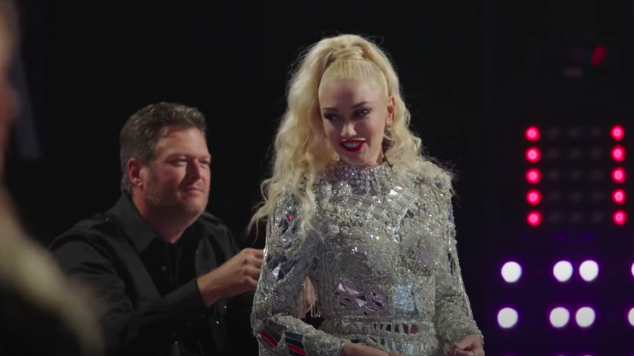 'The Voice' Bloopers: Blake Saves Gwen From a Wardrobe Malfunction!