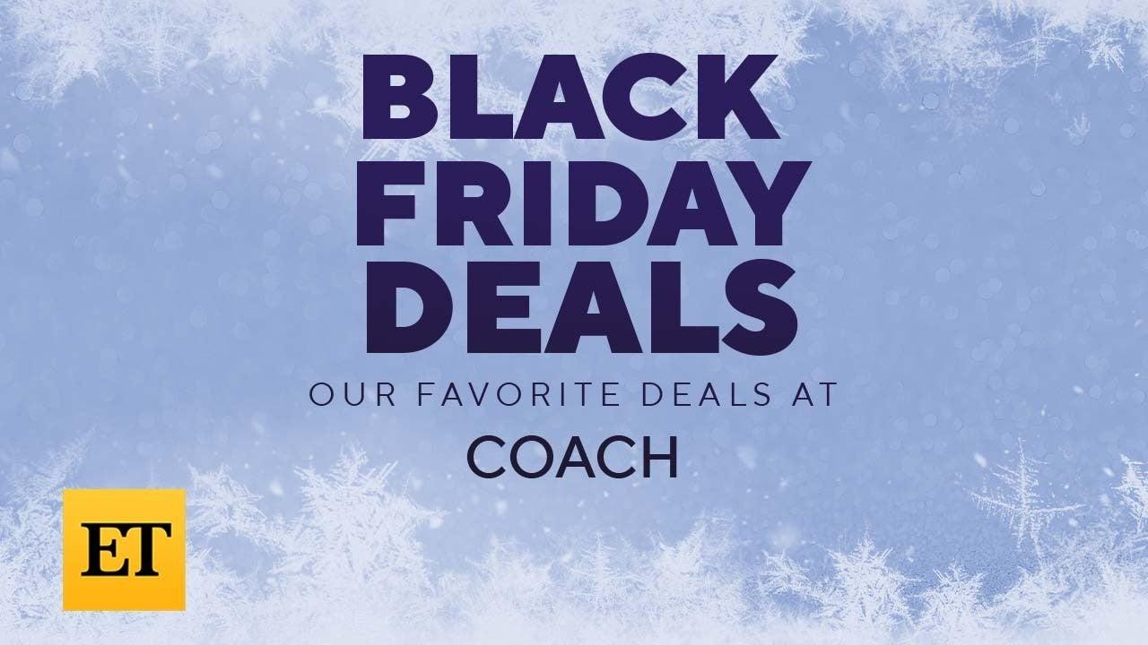 Coach Black Friday Sale: Take 50-70