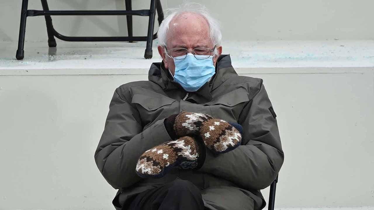 Bernie sanders with his mittens meme has invaded pop culture