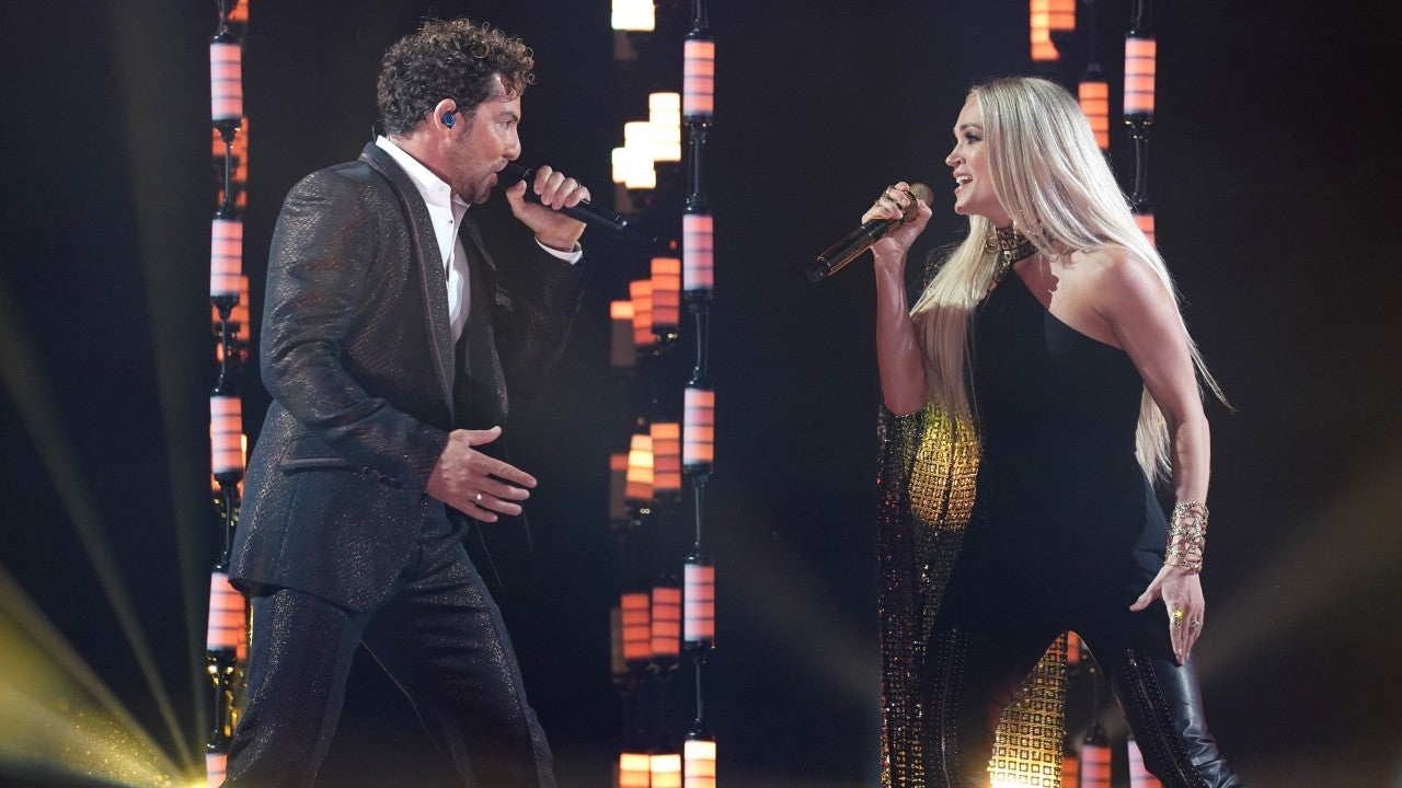 Carrie Underwood and David Bisbal Perform 'Tears of Gold' at 2021 Latin AMAs  Entertainment Tonight
