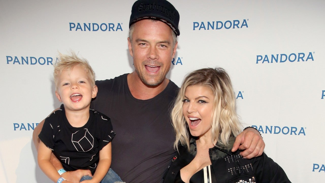 Former husband and wife: Josh Duhamel and Fergie with son Axl Jack Duhamel (Fergie falsified the pregnancy rumor)