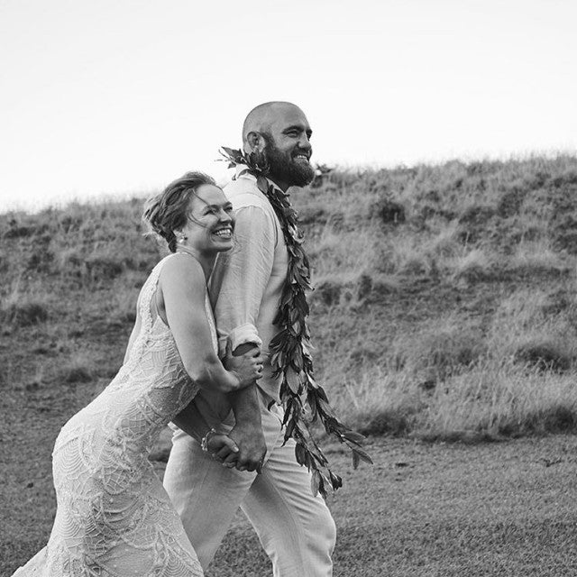 Ronda Rousey and Travis Browne wedding pic in Hawaii