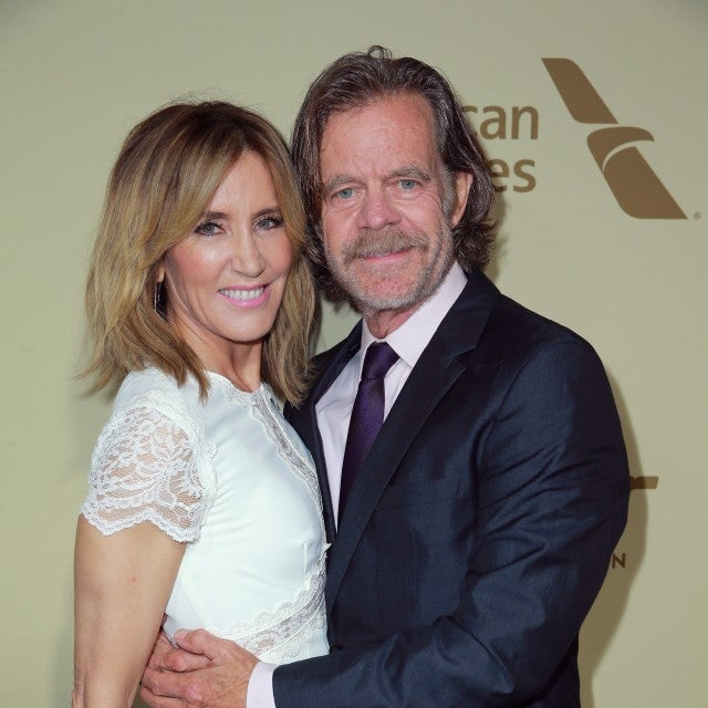 Felicity Huffman and William H. Macy at pre-Emmy party