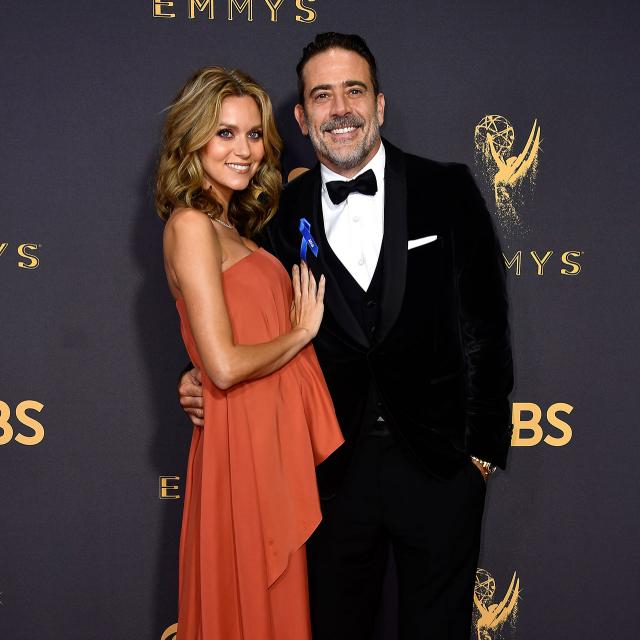 Hilarie Burton and Jeffrey Dean Morgan at 2017 Emmys