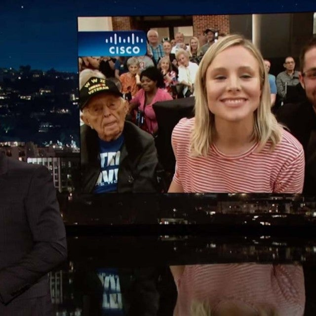 Kristen Bell Talks to Jimmy Kimmel