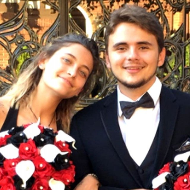 Paris Jackson and Prince Michael Jackson at wedding
