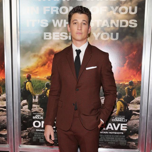 Miles Teller at Only the Brave screening