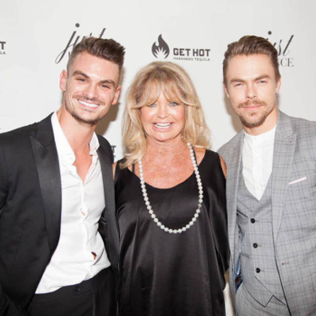 Julz Tocker, Goldie Hawn and Derek Hough