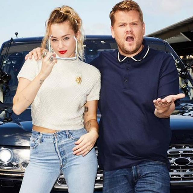 Miley Cyrus and James Corden on Carpool Karaoke