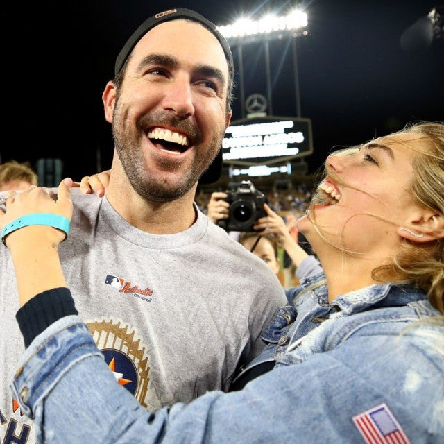 Kate Upton and Justin Verlander at World Series