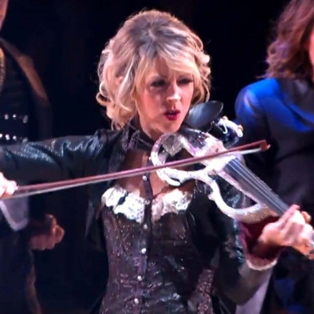 Lindsey Stirling performing during the first night of the 'Dancing With the Stars' Season 25 finals