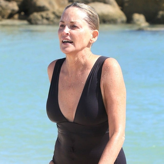 Sharon Stone in a swimsuit