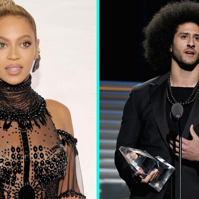 Beyonce and Colin Kaepernick at the Sports Illustrated 2017 Sportsperson of the Year Show in New York