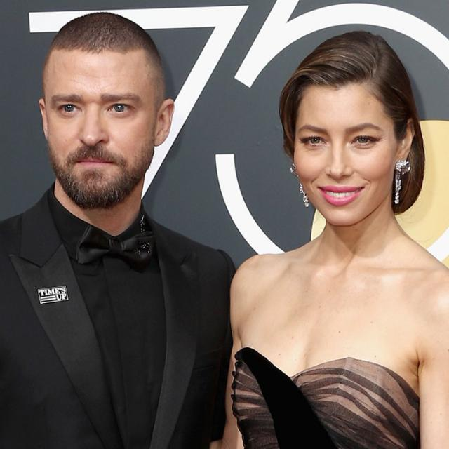Justin Timberlake and Jessica Biel at 2018 Golden Globes