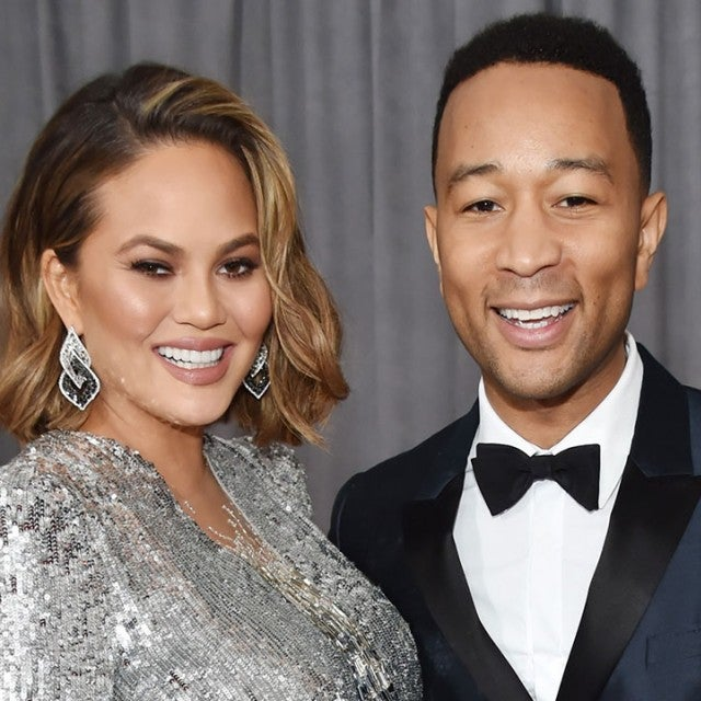 Chrissy Teigen and John Legend at 2018 GRAMMYs