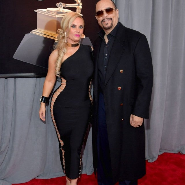 Ice-T and Coco Austin attend 2018 Grammys