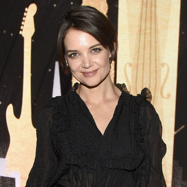 Katie Holmes at pregrammy party
