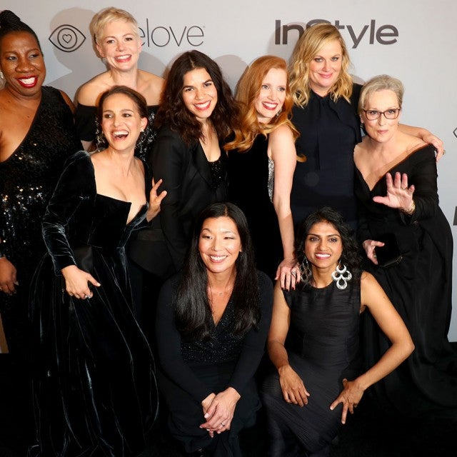 Natalie Portman, Michelle Williams, America Ferrera, Jessica Chastain, Amy Poehler and Meryl Streep