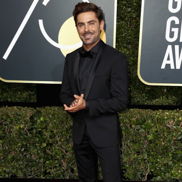 Zac Efron at 2018 Golden Globes