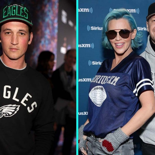 Miles Teller, Jenny McCarthy and Donnie Wahlberg Root for Their Super Bowl Teams